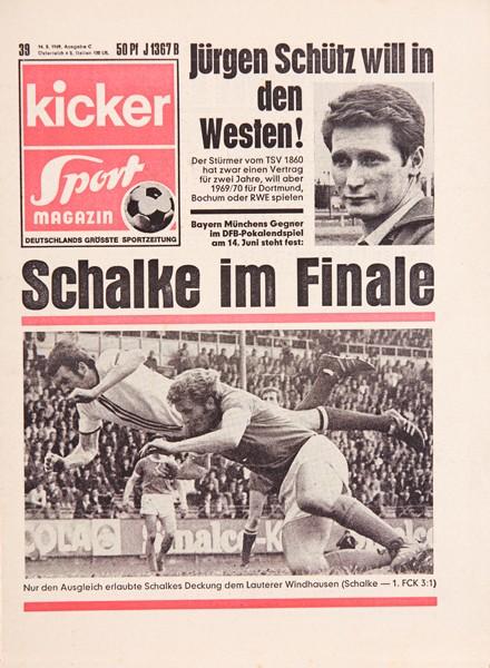 Kicker Sportmagazin Nr. 39, 14.5.1969 bis 20.5.1969