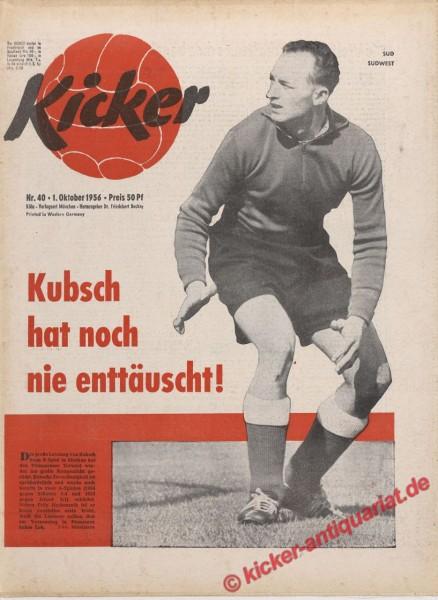 Kicker Nr. 40, 1.10.1956 bis 7.10.1956