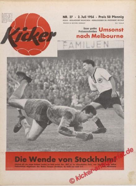 Kicker Nr. 27, 2.7.1956 bis 8.7.1956