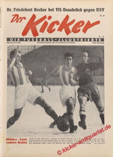 Kicker Nr. 8, 25.2.1952 bis 2.3.1952