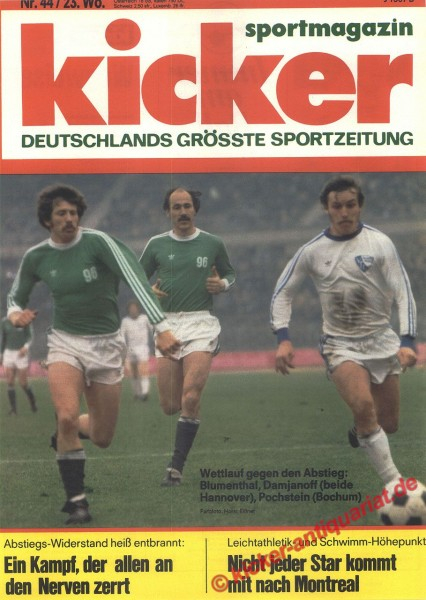 Kicker Sportmagazin Nr. 44, 31.5.1976 bis 6.6.1976