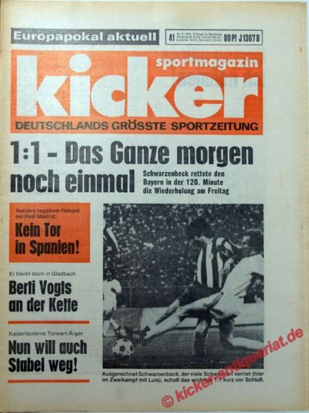 Kicker Sportmagazin Nr. 41, 16.5.1974 bis 22.5.1974