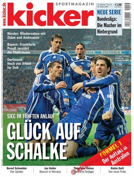 Kicker Sportmagazin Nr. 24, 19.3.2007 bis 25.3.2007