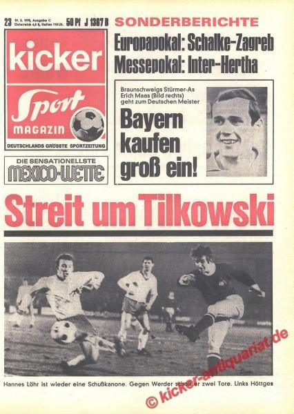 Kicker Sportmagazin Nr. 23, 19.3.1970 bis 25.3.1970