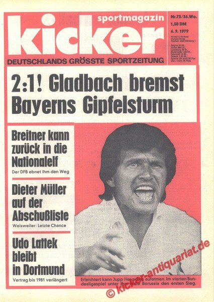 Kicker Sportmagazin Nr. 73, 6.9.1979 bis 12.9.1979