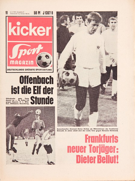 Kicker Sportmagazin Nr. 11, 6.2.1969 bis 12.2.1969