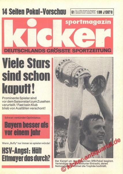 Kicker Sportmagazin Nr. 61, 31.7.1975 bis 6.8.1975