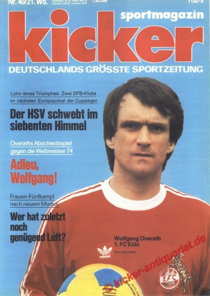 Kicker Sportmagazin Nr. 40, 16.5.1977 bis 22.5.1977
