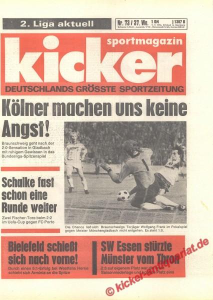 Kicker Sportmagazin Nr. 73, 9.9.1976 bis 15.9.1976