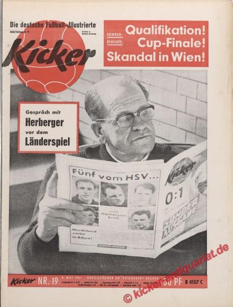 Kicker Nr. 19, 8.5.1961 bis 14.5.1961