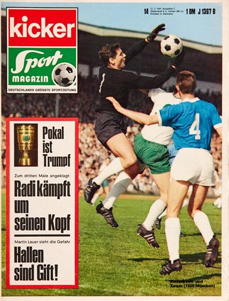 Kicker Sportmagazin Nr. 14, 17.2.1969 bis 23.2.1969