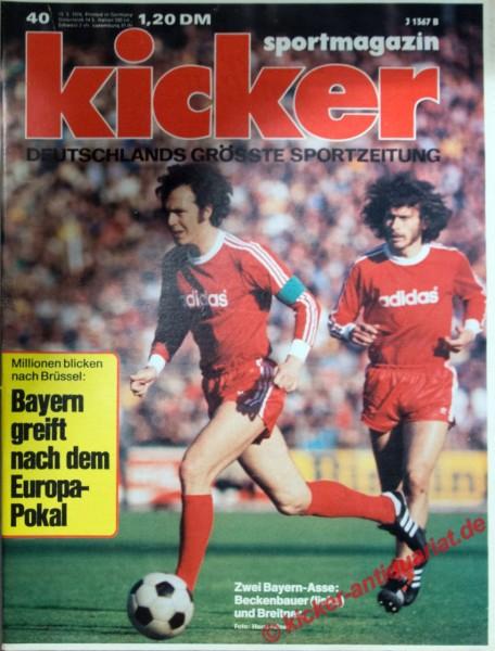 Kicker Sportmagazin Nr. 40, 13.5.1974 bis 19.5.1974
