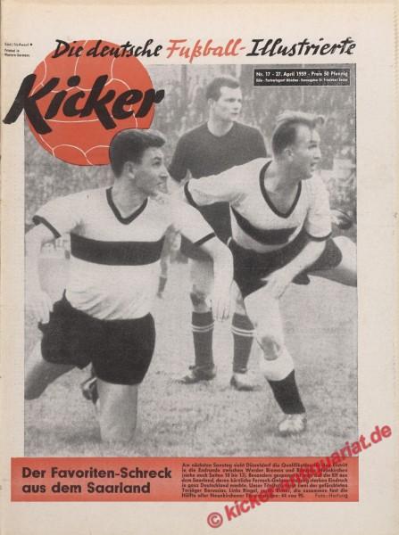Kicker Nr. 17, 27.4.1959 bis 3.5.1959