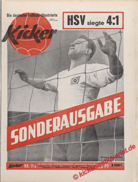 Kicker Nr. 11A, 16.3.1961 bis 22.3.1961