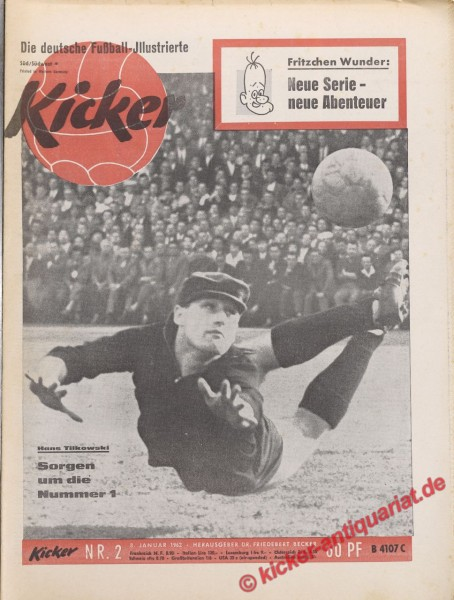 Kicker Nr. 2, 8.1.1962 bis 14.1.1962