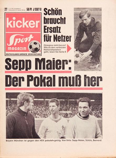 Kicker Sportmagazin Nr. 27, 2.4.1969 bis 8.4.1969