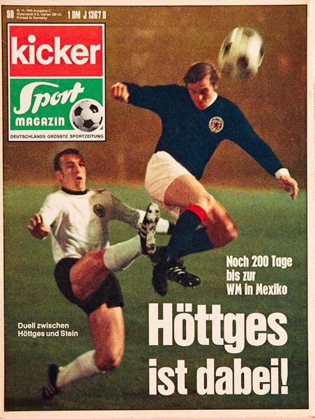 Kicker Sportmagazin Nr. 90, 10.11.1969 bis 16.11.1969