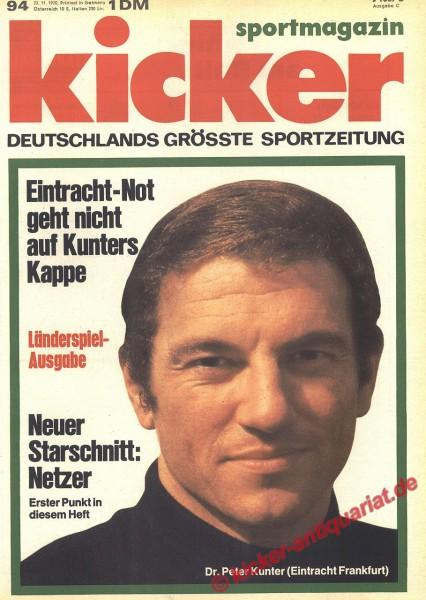 Kicker Sportmagazin Nr. 94, 23.11.1970 bis 29.11.1970