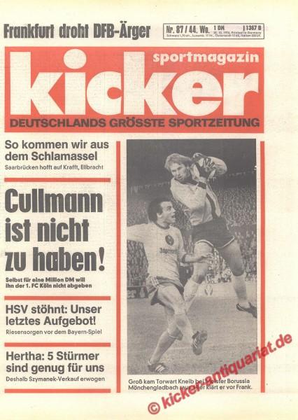Kicker Sportmagazin Nr. 87, 28.10.1976 bis 3.11.1976