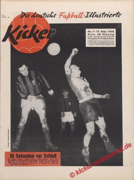 Kicker Nr. 7, 17.2.1958 bis 23.2.1958