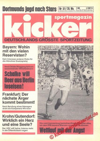 Kicker Sportmagazin Nr. 51, 23.6.1977 bis 29.6.1977
