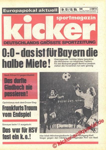 Kicker Sportmagazin Nr. 19, 4.3.1976 bis 10.3.1976