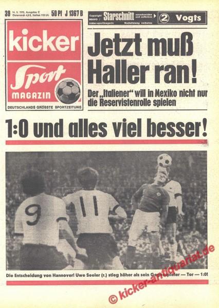 Kicker Sportmagazin Nr. 39, 14.5.1970 bis 20.5.1970
