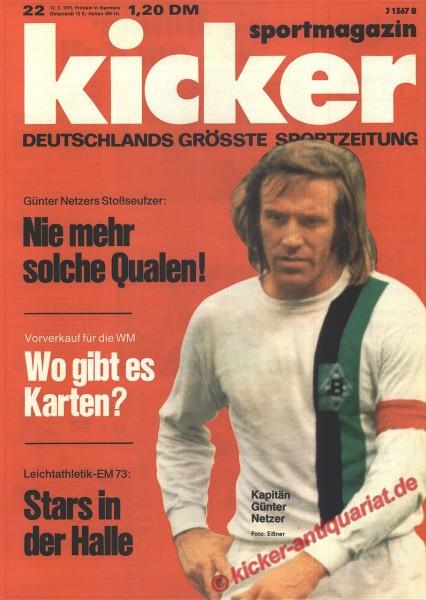 Kicker Sportmagazin Nr. 22, 12.3.1973 bis 18.3.1973