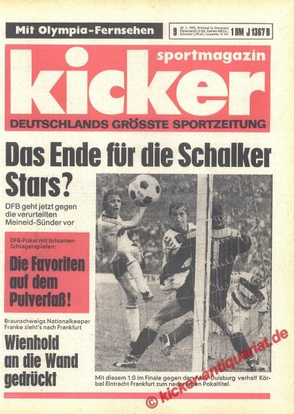Kicker Sportmagazin Nr. 9, 29.1.1976 bis 4.2.1976
