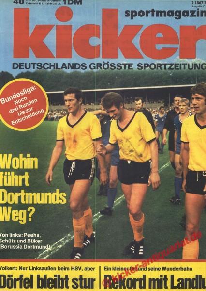 Kicker Sportmagazin Nr. 40, 17.5.1971 bis 23.5.1971