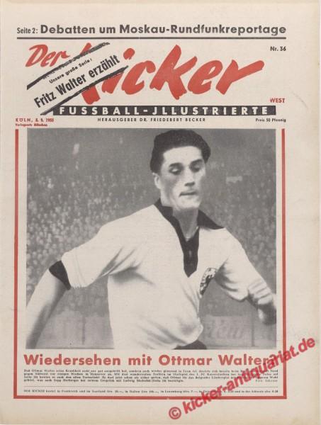 Kicker Nr. 36, 5.9.1955 bis 11.9.1955