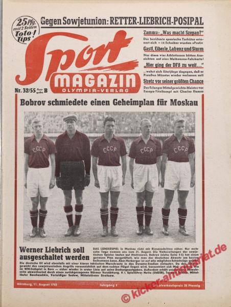 Sportmagazin Nr. 32B, 11.8.1955 bis 17.8.1955