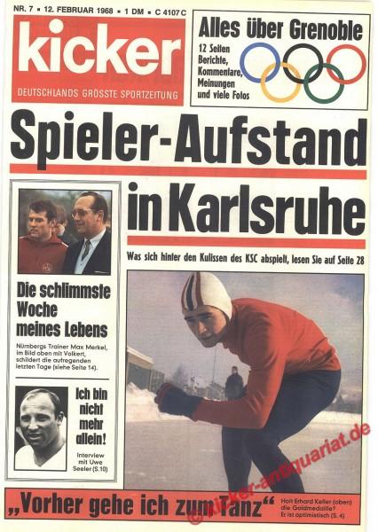 Kicker Sportmagazin Nr. 7, 12.2.1968 bis 18.2.1968