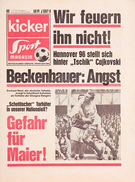 Kicker Sportmagazin Nr. 89, 6.11.1969 bis 12.11.1969