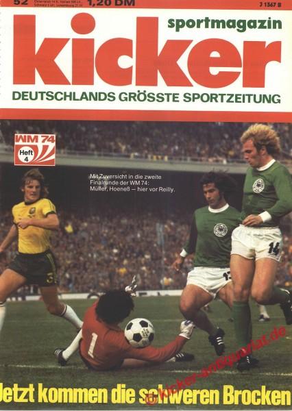 Kicker Sportmagazin Nr. 52, 24.6.1974 bis 30.6.1974