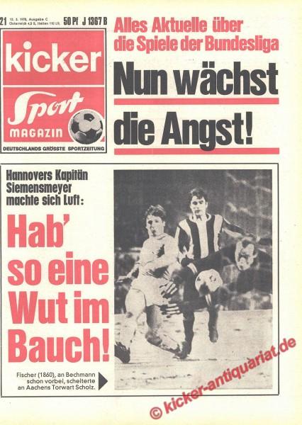 Kicker Sportmagazin Nr. 21, 12.3.1970 bis 18.3.1970