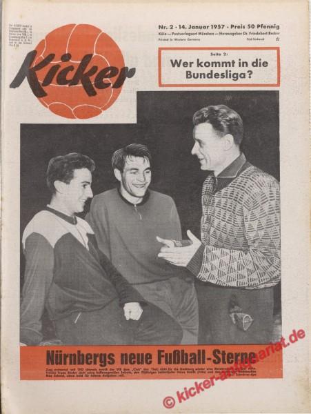 Kicker Nr. 2, 14.1.1957 bis 20.1.1957