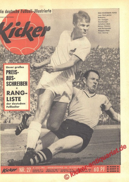Kicker Nr. 27, 8.7.1963 bis 14.7.1963