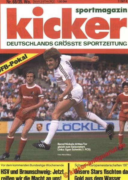 Kicker Sportmagazin Nr. 68, 22.8.1977 bis 28.8.1977