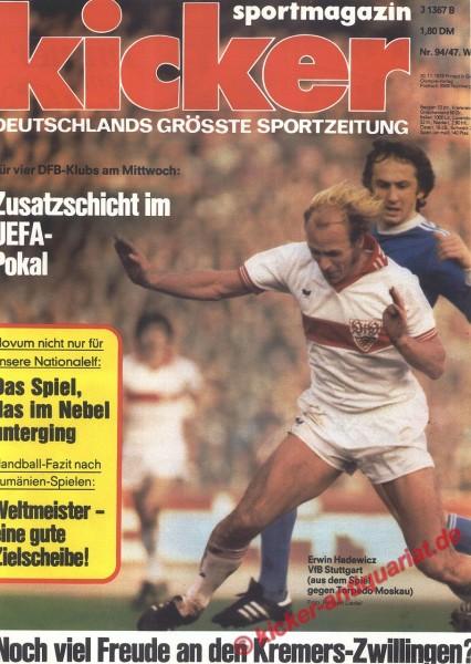 Kicker Sportmagazin Nr. 94, 20.11.1978 bis 26.11.1978