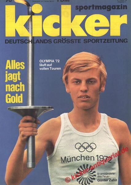Kicker Sportmagazin Nr. 70, 28.8.1972 bis 3.9.1972
