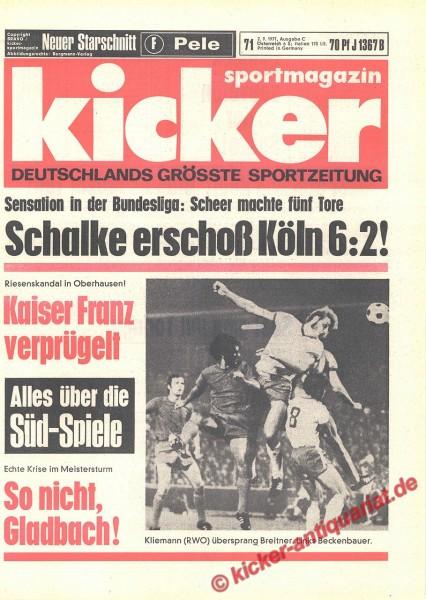 Kicker Sportmagazin Nr. 71, 2.9.1971 bis 8.9.1971
