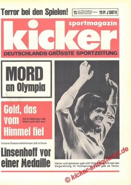 Kicker Sportmagazin Nr. 73, 6.9.1972 bis 12.9.1972