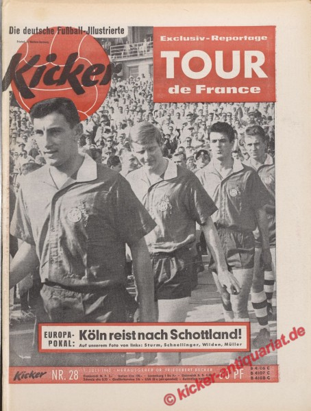 Kicker Nr. 28, 9.7.1962 bis 15.7.1962