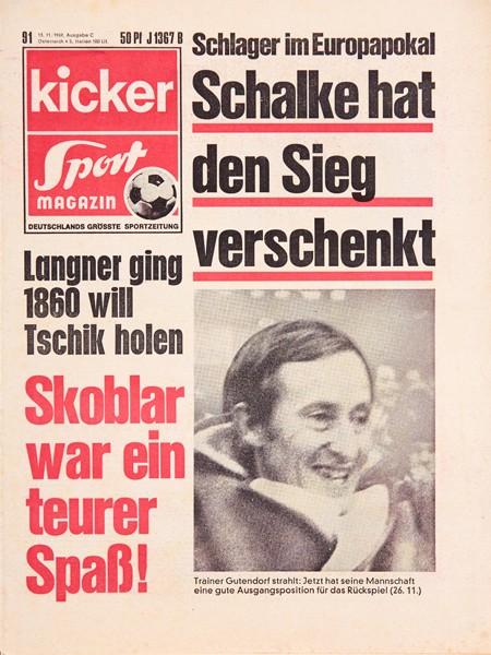 Kicker Sportmagazin Nr. 91, 13.11.1969 bis 19.11.1969