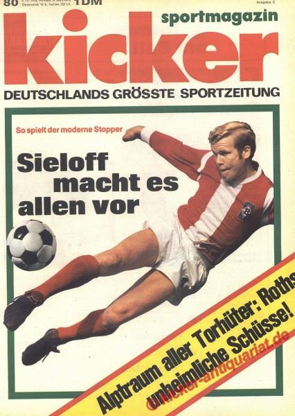 Kicker Sportmagazin Nr. 80, 5.10.1970 bis 11.10.1970