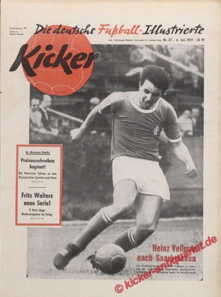 Kicker Nr. 27, 6.7.1959 bis 12.7.1959