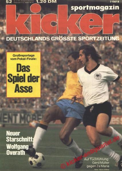 Kicker Sportmagazin Nr. 52, 25.6.1973 bis 1.7.1973