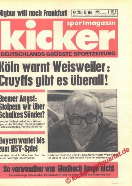 Kicker Sportmagazin Nr. 29, 8.4.1976 bis 14.4.1976
