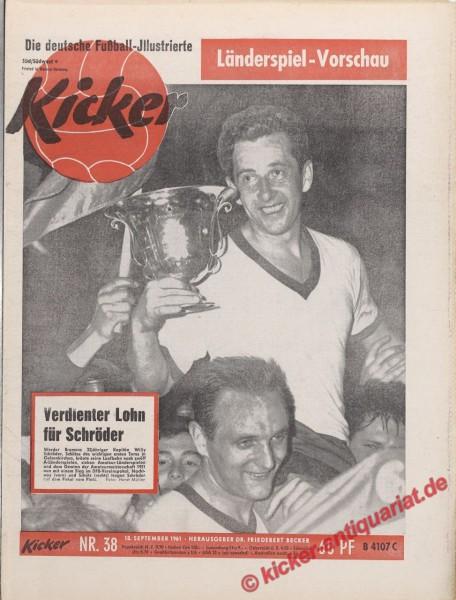 Kicker Nr. 38, 18.9.1961 bis 24.9.1961